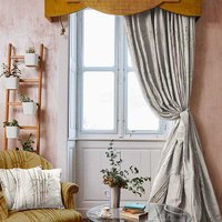 The Chateau by Angel Strawbridge Ready made curtains The Chateau Oriental Garden Bamboo Curtains BAM/NAT/20090TA