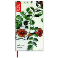 Slimline Address Book - Trumpet Flower Design