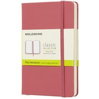 Moleskine Classic Plain Paper Notebook, Hard Cover and Elastic Closure Journal, Colour Daisy Pink, Size Pocket 9 x 14 A6, 192 Pages