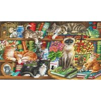 Gibsons Puss in Books Jigsaw Puzzle, 1000 piece