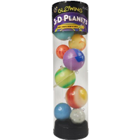 3-D Planets In A Tube Glow Inthe Dark