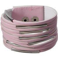 PU-Leren Armband in Roze, Zwart of Wit