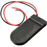 Button Battery Holder met Aan/Uit-Knop