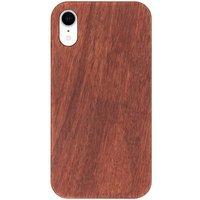 Donkerbruin houten hardcase hoesje voor de iPhone Xr