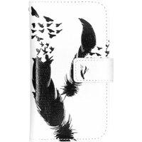 Veer design TPU portemonnee voor de Samsung Galaxy S4