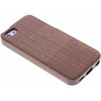 Donkerbruin echt houten hardcase hoesje voor de iPhone 5c