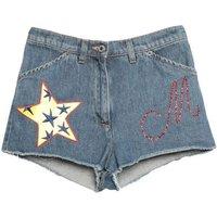 MOSCHINO-DENIM-Denim-shorts-Women-