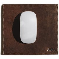 SID & VAIN Mousepad ELLIOTT echte Leder braun Maus Pad Mouse Pad