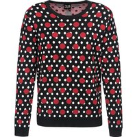 Pussy Deluxe Mixed Dotties Knit Pullover schwarz allover