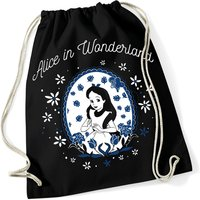 Alice in Wonderland Pink Turns Blue Turnbeutel schwarz
