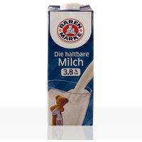 Bärenmarke Die haltbare Milch 3,8% Fett, Vollmilch mit Drehverschluss 12 x 1l, Milch
