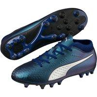 Puma ONE 4 Syn AG Jr – Kinder Fußballschuhe Kunstrasenschuhe – 104780-03 blau/silber