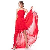 Feuriges Vokuhila Kleid mit Neckholder