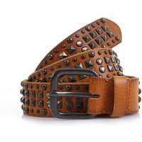 COWBOYSBELT Nietengürtel Women - 359018 - Juicy Tan
