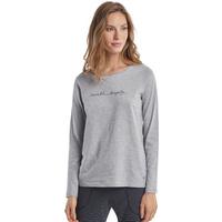 Marc O`Polo Damen Langarm-Shirt Crewneck Grey Melange 1er Pack