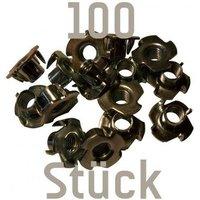 100 Einschlagmuttern M10 für Klettergriffe