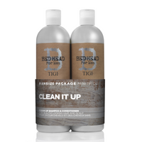 Bed Head for Men by Tigi Clean Up Mens Daily Shampoo and Conditioner 2x750ml