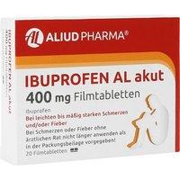 IBUPROFEN AL akut 400 mg Filmtabletten 20 St - Versandkostenfrei ab 20€