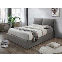 Cama con canapé abatible ALCEO – Tela gris claro – 180x200cm