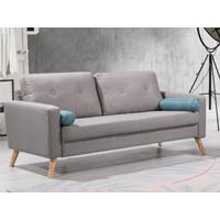 Sofá de 3 plazas TATUM de tela - Gris jaspeado