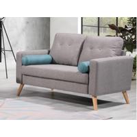 Sofá de 2 plazas TATUM de tela - Gris jaspeado