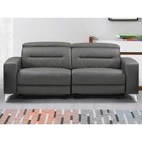Sofá de 3 plazas relax eléctrico PAULY de piel - Antracita