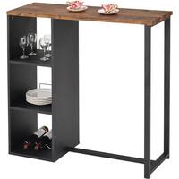 Mueble de bar MORENA - Metal y MDF - Tablero con acabado simulando el hormigón