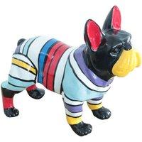 Escultura de bulldog francés CABOT -Resina-34x14x27cm - multicolor