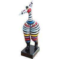 Escultura de mujer con curvas MISTRESS -Resina-17x17x51cm- multicolor