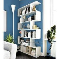 Estantería alta TOMINI - 6 estantes - Color: blanco