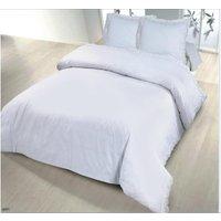 Conjunto de cama DENTELLE - algodón - funda de edredón de 240 x 260 cm + 2 fundas de almohada de 65 x 65 cm - blanco
