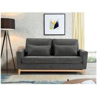 Sofá cama de 3 plazas BOSKO - Antracita