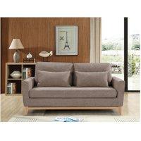 Sofá cama de 3 plazas BOSKO – Marrón grisáceo