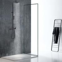 Columna de ducha PENEDA de acero inoxidable negro mate - 125cm
