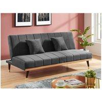 Sofá cama de 3 plazas de terciopelo KERBI - Antracita