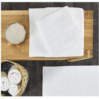 Lote de 4 toallas de baño BLOIS - 100% algodón - 50x100 cm y 70x140 cm - Blanco