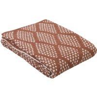 Manta OYACE - acrílico y lana - 130 x 170 cm - rojo y marfil