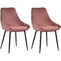 Lote de 2 sillas MASURIE - Terciopelo - Terracota