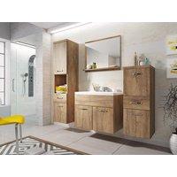Conjunto de baño CLAUDIA - Muebles de cuarto de baño - efecto madera