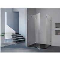 Mampara de ducha angular CLARINDA - Ancho 100 x Prof. 80 x Alt. 190 cm