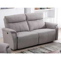 Sofá de 3 plazas relax eléctrico HENEL de tela - Beige