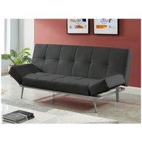 Sofá cama de 3 plazas de piel sintética ESPOO II - Negro