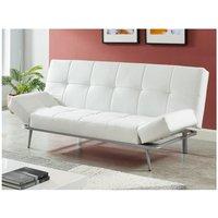 Sofá cama de 3 plazas de piel sintética ESPOO II - Blanco
