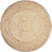Alfombra redonda JAIPUR - 100% yute - D. 150 cm - Natural