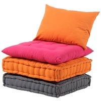 Sofá de tela CHASE - Fucsia, naranja y gris arenoso