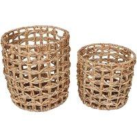 Juego de 2 cestas de jacinto de agua JONCIO - D. 35 y D. 30 - natural