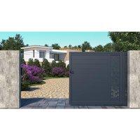 Portón corredero de aluminio NOIRAM - Ancho 350 x Alt. 173 cm