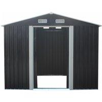 Caseta de jardín de acero galvanizado gris MANSO - 5,2 m²