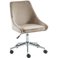 Silla de escritorio MASURIE - Terciopelo - Beige - Altura ajustable