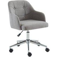 Silla de escritorio MISSOURI - Tela - Gris- Altura ajustable